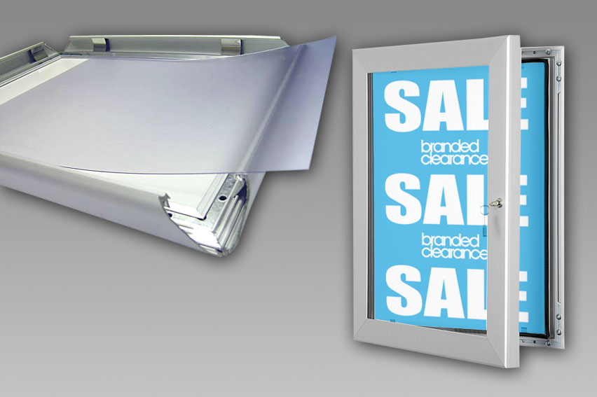 Poster Frames. Clip frames and lockable solutions available. Wide range of sizes.
