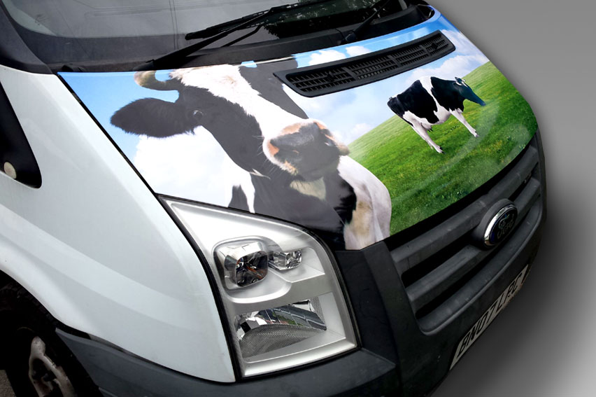 Partial Vehicle Wrap. Bonnet Wrap, available at compeitive prices and to an extremely high standard