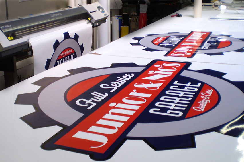 Computer Cut Vinyl Graphics. Highest quality materials, vivid colours and eyecatching results