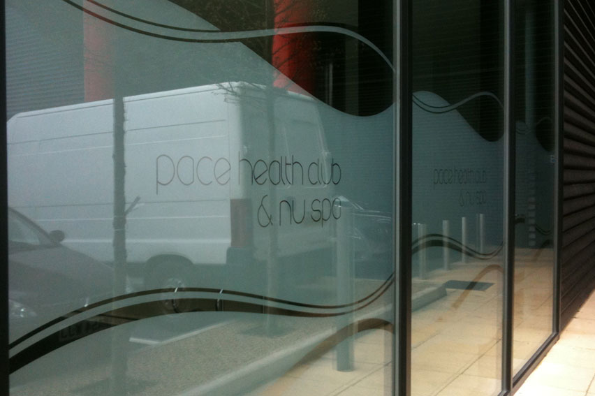 Frosted Etched Glass Vinyl. Perfect for added privacy or subtle window messages. Perfect for offices, hotels and retail.